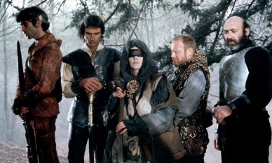 Mandatory Credit: Photo by ITV/REX Shutterstock (878725na) 'Hawk the Slayer' Film - 1980 - Ray Charleson, John Terry, Patricia Quinn, William Morgan Sheppard and Bernard Bresslaw GTV ARCHIVE Caption-Abstract: Sword and sorcery as two brothers engage in mortal combat - Hawk, a hero of incredible might and courage and Voltan, a wizard of consummate evil. After Voltan kills their father, Hawk sets out on a quest to destroy Voltan and avenge his father's murder. Before he died, their father cursed Voltan to die a thousand deaths and in his torment, Voltan sets out to find Hawk and seize his magic mind sword. Ultimately, the forces of good and evil meet in epic conflict.